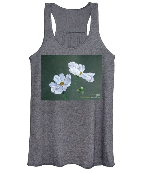 White Cosmos Women's Tank Top