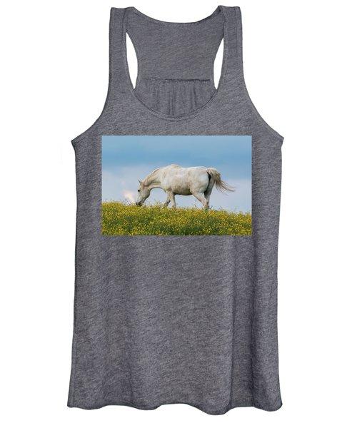 White Horse Of Cataloochee Ranch 2 - May 30 2017 Women's Tank Top