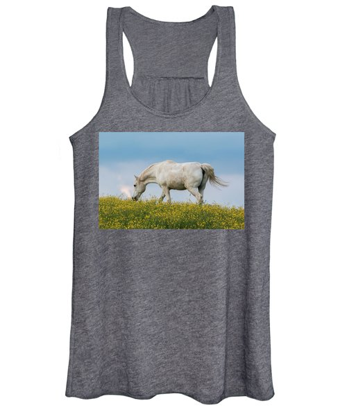White Horse Of Cataloochee Ranch 2 - May 30 2017 Women's Tank Top