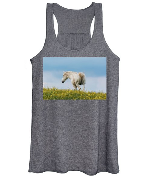 White Horse Of Cataloochee Ranch - May 30 2017 Women's Tank Top