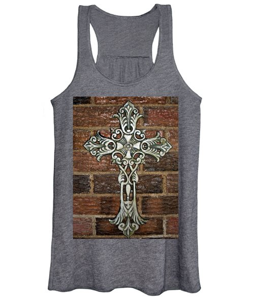 White Iron Cross 1 Women's Tank Top