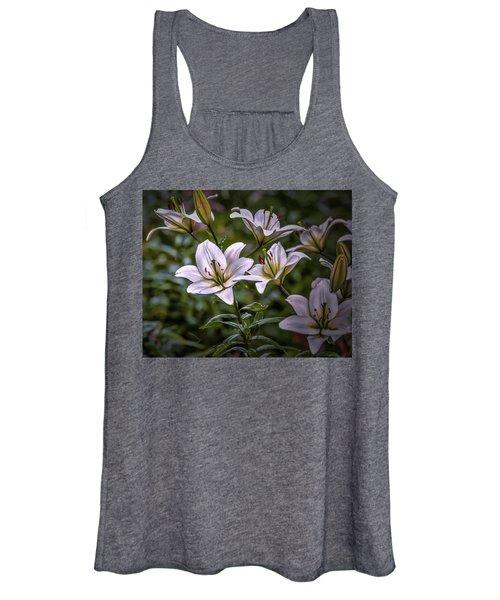 White Lilies #g5 Women's Tank Top