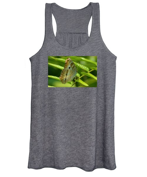White Peacock Butterfly 2 Women's Tank Top