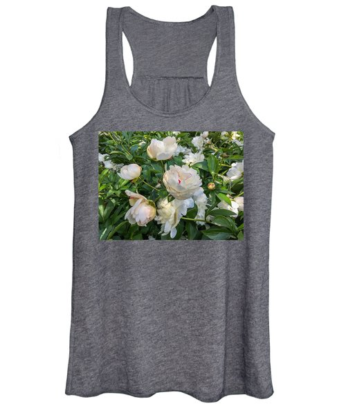 White Peonies In North Carolina Women's Tank Top