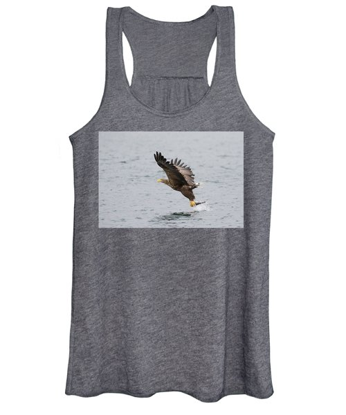White-tailed Eagle Catching Dinner Women's Tank Top