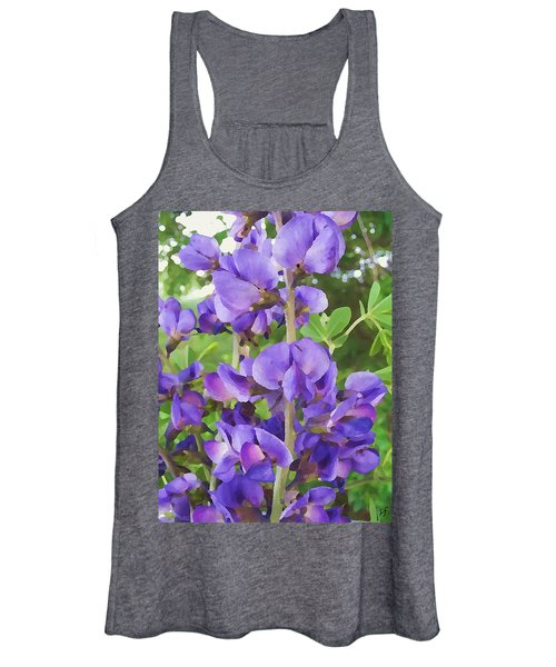 Wild Blue False Indigo Women's Tank Top