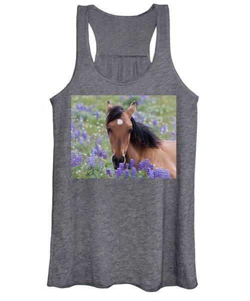 Wild Horse Among Lupines Women's Tank Top