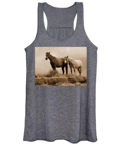 Wild Horses In Western Dakota Women's Tank Top