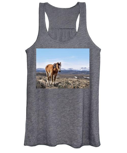 Wild Mustang Filly Of Sand Wash Basin Women's Tank Top