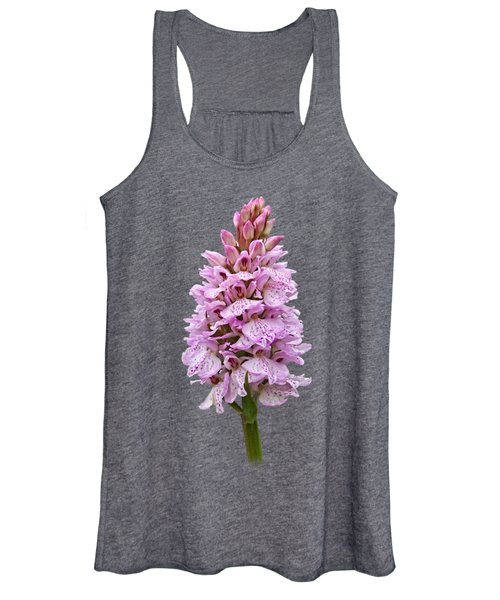 Wild Pink Spotted Orchid Women's Tank Top