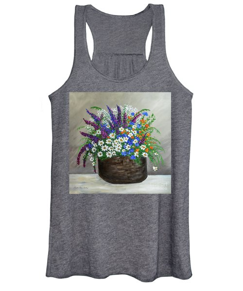 Wildflower Basket Acrylic Painting A61318 Women's Tank Top