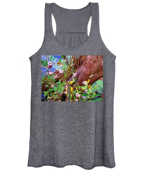 Wildflowers On A Cypress Knee Women's Tank Top