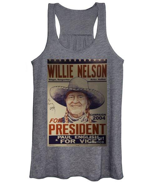 Willie For President Women's Tank Top