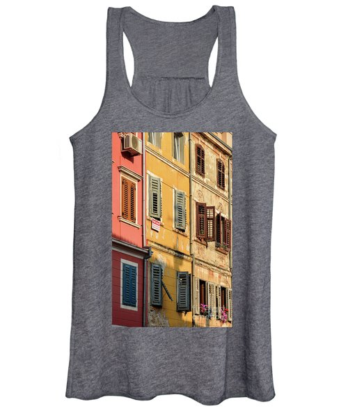 Windows Of Rovinj, Istria, Croatia Women's Tank Top