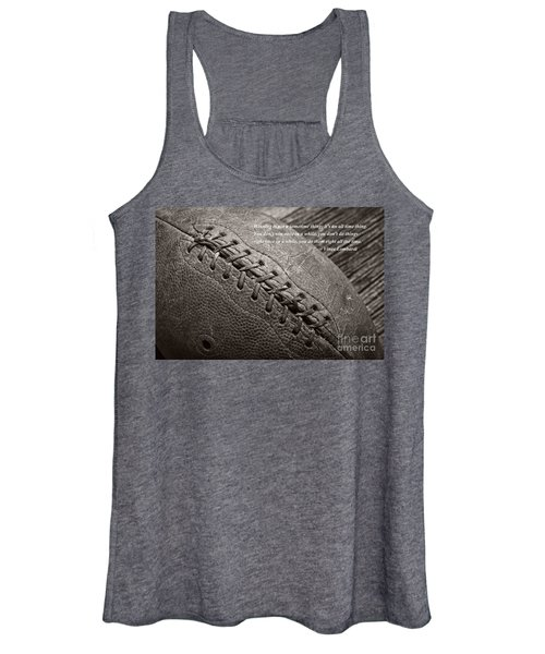 Winning Quote From Vince Lombardi Women's Tank Top