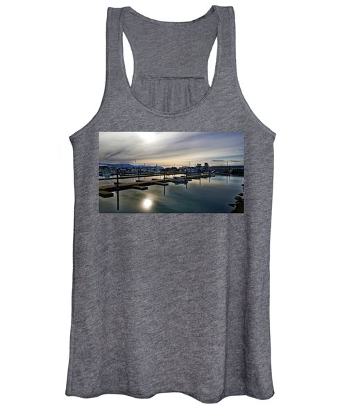 Winter Harbor Revisited #mobilephotography Women's Tank Top