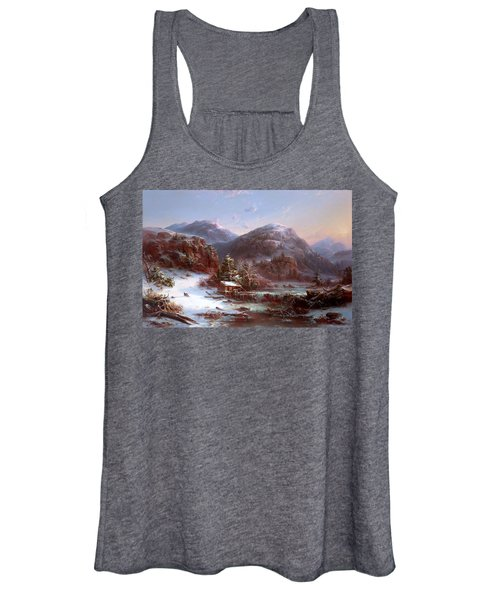 Winter In The Mountains Women's Tank Top