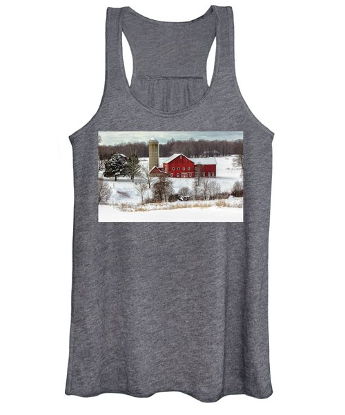 Winter On A Farm Women's Tank Top