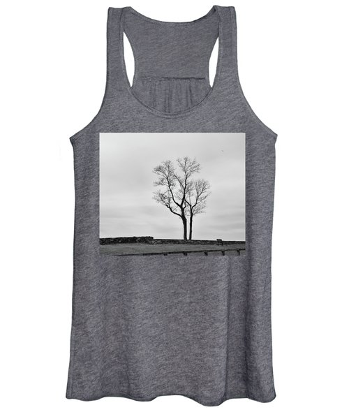 Winter Trees And Fences Women's Tank Top
