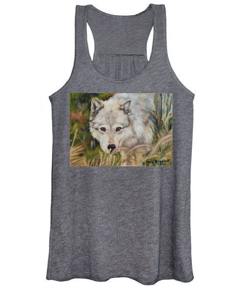Wolf Among Foxtails Women's Tank Top
