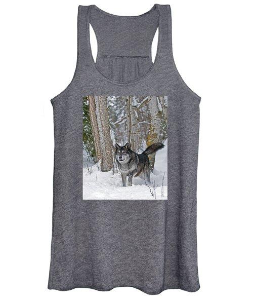 Wolf In Trees Women's Tank Top