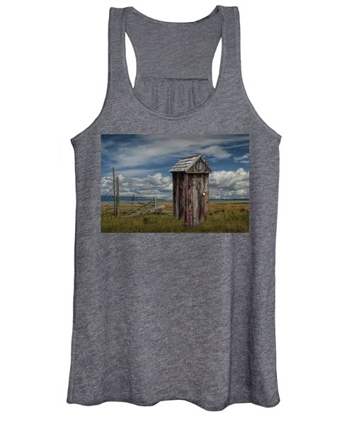 Wood Outhouse Out West Women's Tank Top
