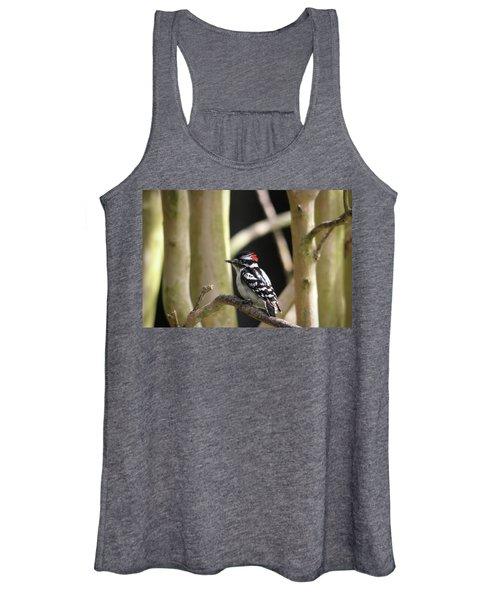 Downy Woodpecker Women's Tank Top