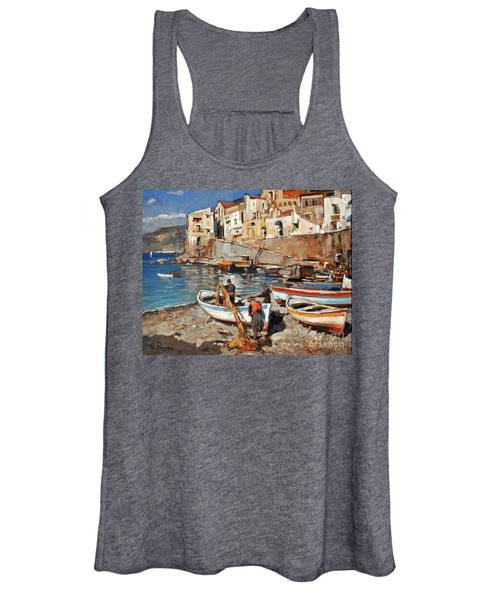 Work Never Ends For Amalfi Fishermen Women's Tank Top
