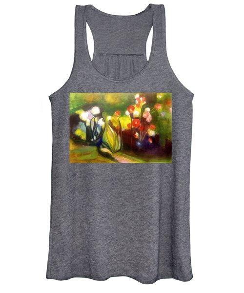 Warm Flowers In A Cool Garden Women's Tank Top