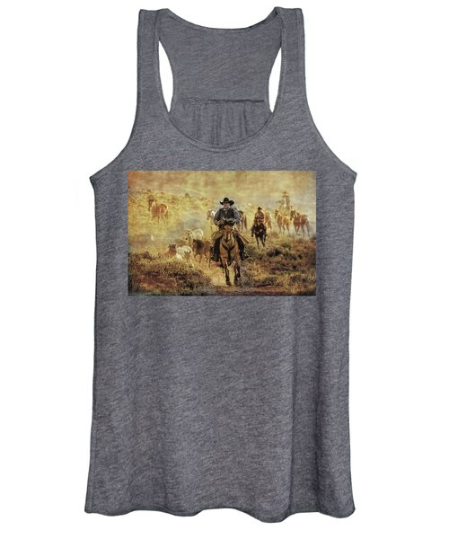 A Dusty Wyoming Wrangle Women's Tank Top
