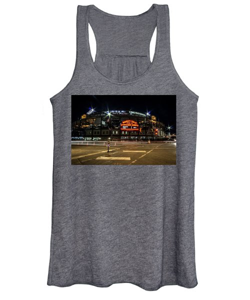 Wrigley Field Marquee At Night Women's Tank Top