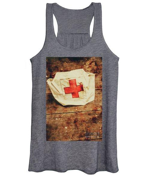 Ww2 Nurse Hat. Army Medical Corps Women's Tank Top