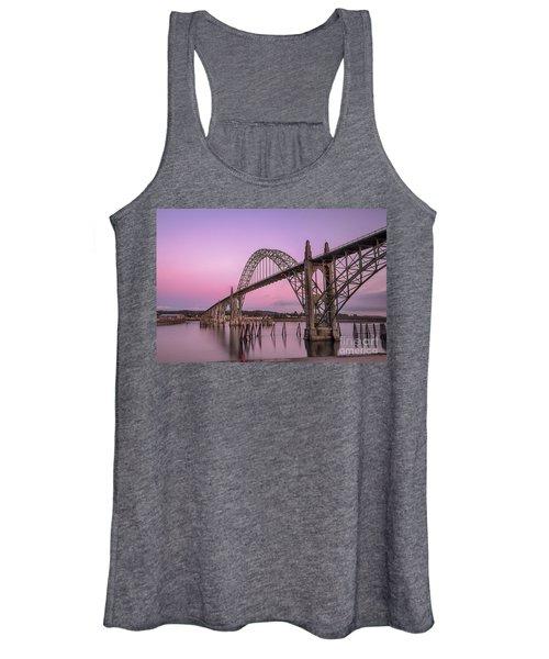 Yaquina Bay Bridge In Blue Light Women's Tank Top