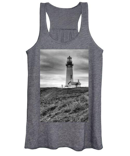 Yaquina Head Lighthouse - Monochrome Women's Tank Top