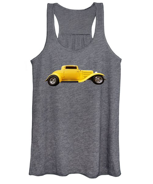 Yellow 32 Ford Deuce Coupe Women's Tank Top
