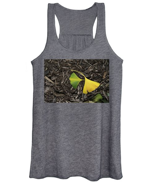 Yellow And Green Gingko Women's Tank Top