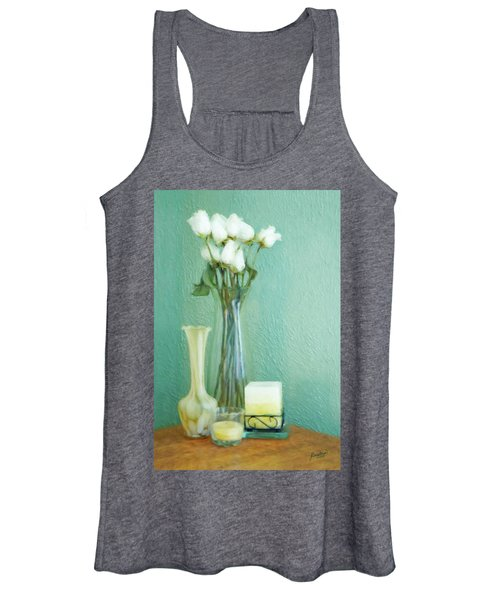 Yellow And Green Women's Tank Top