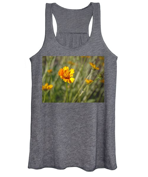 Women's Tank Top featuring the photograph Yellow Flower by Michael Colgate