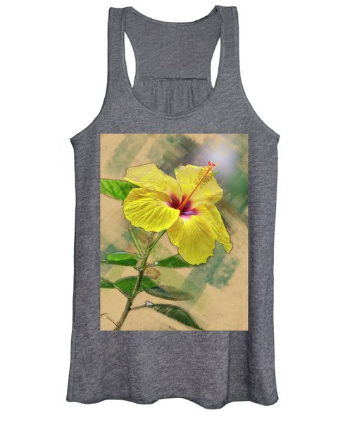 Yellow Hibiscus Women's Tank Top