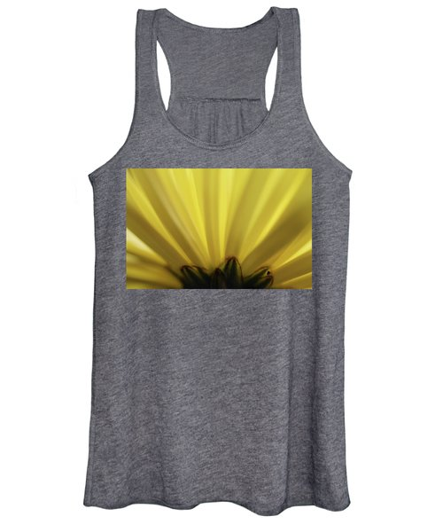 Yellow Mum Petals Women's Tank Top