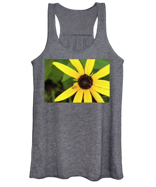 Yellow Petaled Flower With Bug Women's Tank Top