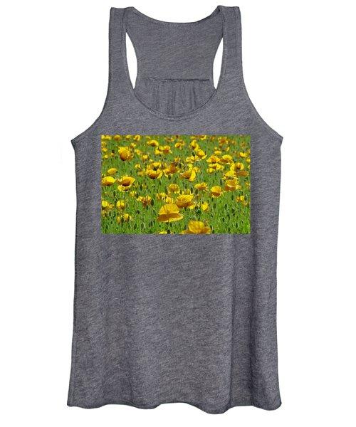 Yellow Poppy Field Women's Tank Top
