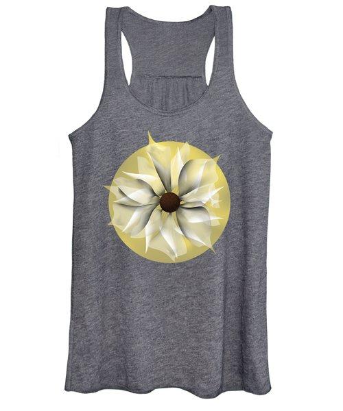 Yellow Soft Flower Women's Tank Top