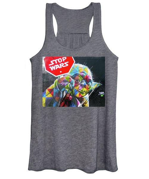 Yoda - Stop Wars Women's Tank Top