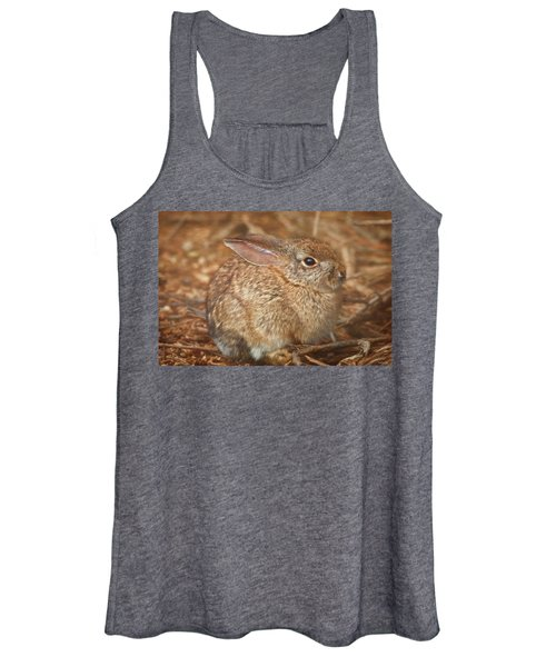 Young Cottontail In The Morning Women's Tank Top