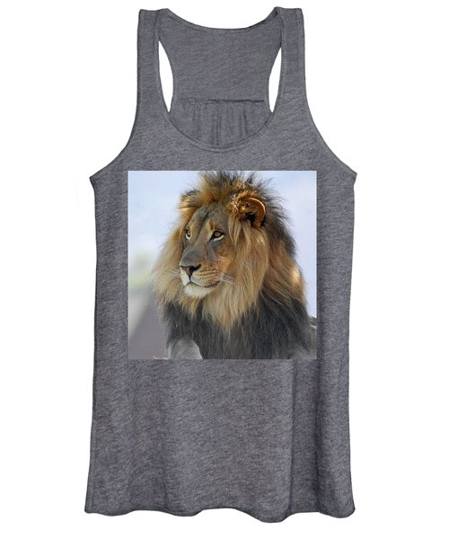 Young Male Lion Women's Tank Top