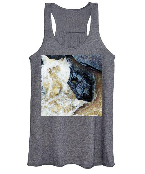 Yuba Blue Boulder In Stormy Waters Women's Tank Top