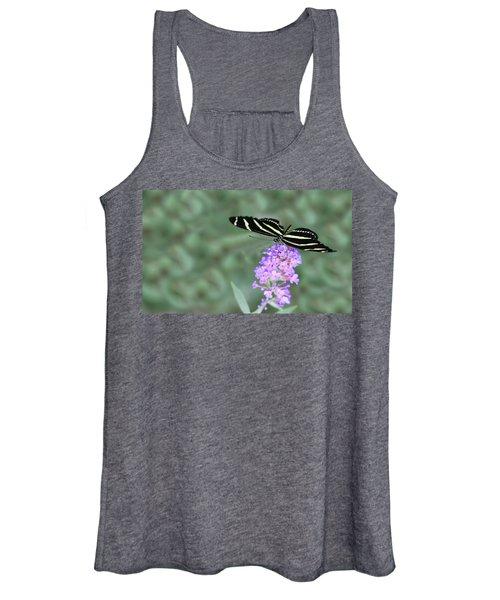 Zebra Longwing Butterfly  Women's Tank Top
