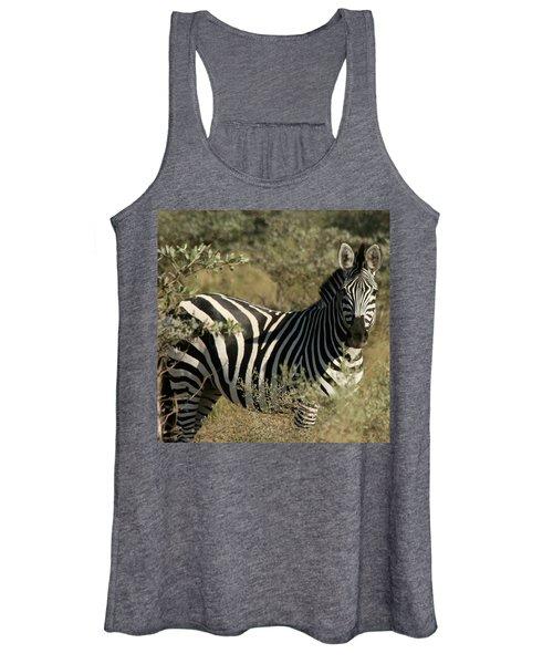 Zebra Portrait Women's Tank Top