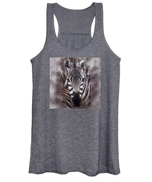 Zebra Splash Women's Tank Top
